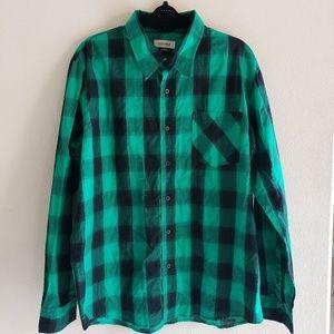 Anchor Blue Green/Black Plaid Shirt